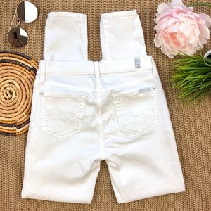 7 For All Mankind Jeans - 7 For All Mankind Skinny Gwenevere white Jeans